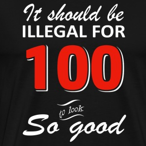 Funny 100th year old birthday designs - Men's Premium T-Shirt