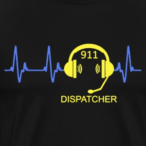 Dispatcher Heartbeat Shirt - Men's Premium T-Shirt