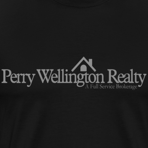 Perry Wellington logo - grey - Men's Premium T-Shirt