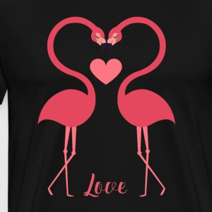 Love Birds Swan Heart Valentine's - Men's Premium T-Shirt
