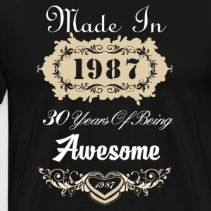 Made in 1987 30 years of being awesome - Men's Premium T-Shirt
