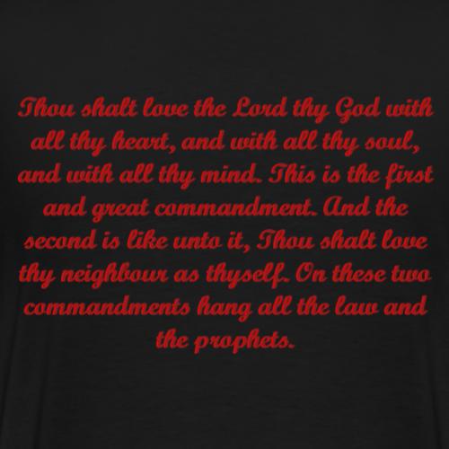 LAW LOVE (back) - Men's Premium T-Shirt