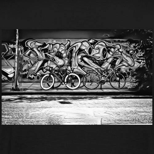 DC 116 e B & W Graffiti - Men's Premium T-Shirt