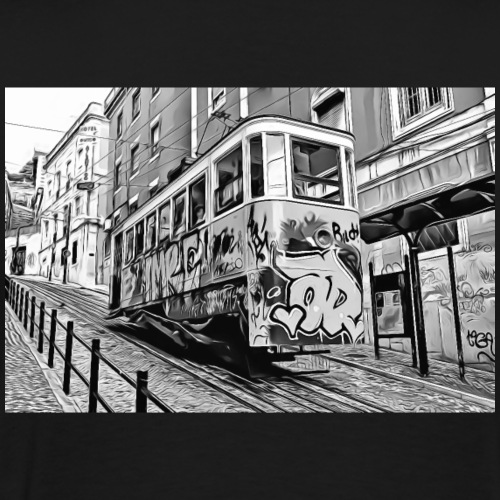 DC 118 e B & W Graffiti - Men's Premium T-Shirt