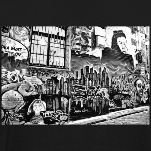 DC 113 e B & W Street Graffiti - Men's Premium T-Shirt