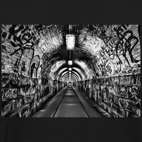 DC 119 e B & W Graffiti - Men's Premium T-Shirt