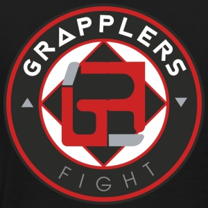 Dark 001 grapplersfight LOGO Back - Men's Premium T-Shirt