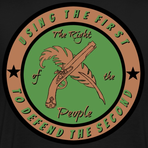 The Right of the People Logo - Men's Premium T-Shirt