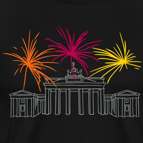 Newyearseve at Brandenburg Gate Berlin - Men's Premium T-Shirt