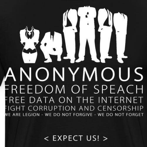 Anonymous 2 - White - Men's Premium T-Shirt