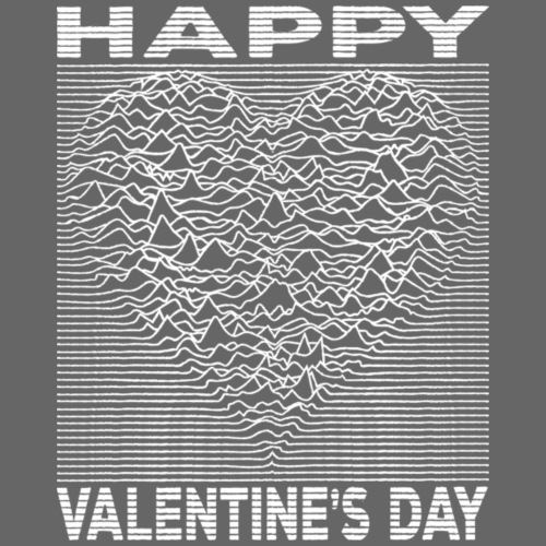 Love Lines Happy Valentines Day Heart - Men's Premium T-Shirt