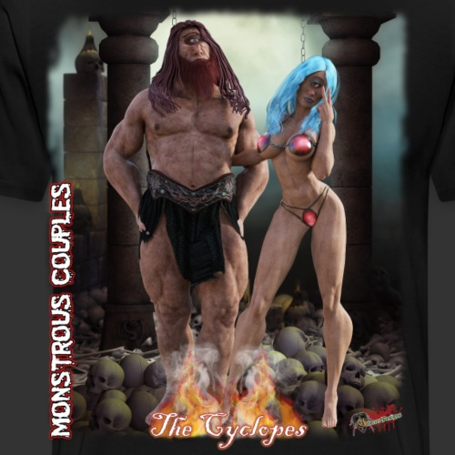 Monstrous Couples: The Cyclopes - Men's Premium T-Shirt