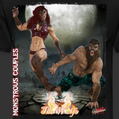 Monstrous Couples: The Wolfs - Men's Premium T-Shirt