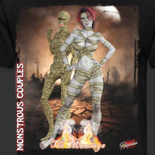 Monstrous Couples: The Mummys - Men's Premium T-Shirt
