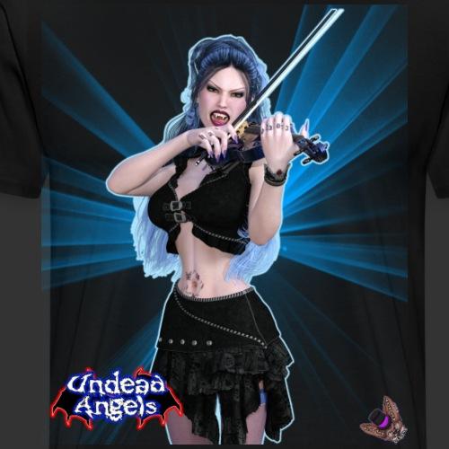 Undead Angels: Vampire Violinist Ariel Spotlight - Men's Premium T-Shirt