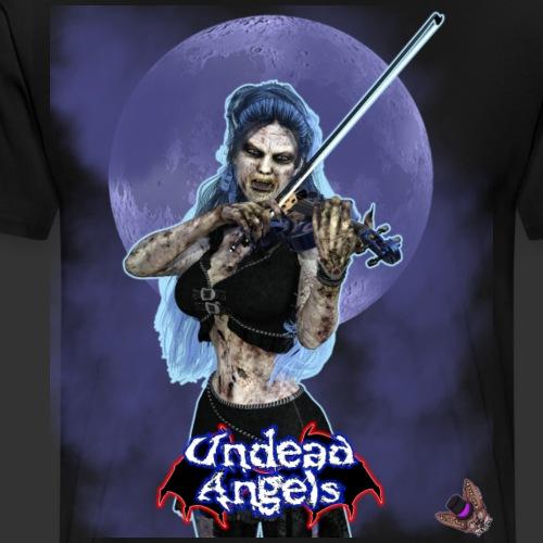 Undead Angels: Zombie Violinist Ariel Full Moon - Men's Premium T-Shirt