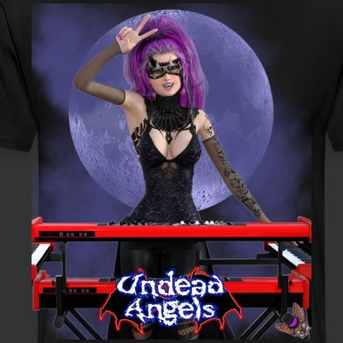 Undead Angels: Vampire Keyboardist Luna Full Moon - Men's Premium T-Shirt