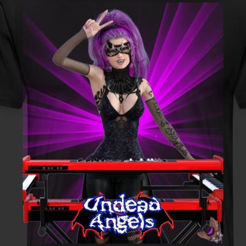 Undead Angels: Vampire Keyboardist Luna Spotlight - Men's Premium T-Shirt