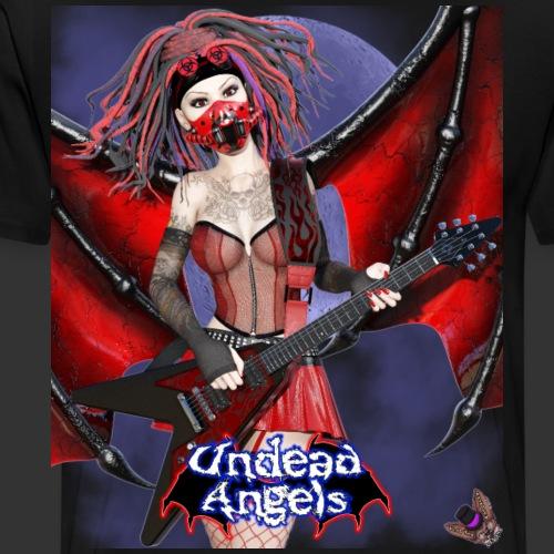 Undead Angels: Vampire Guitarist Crimson Full Moon - Men's Premium T-Shirt