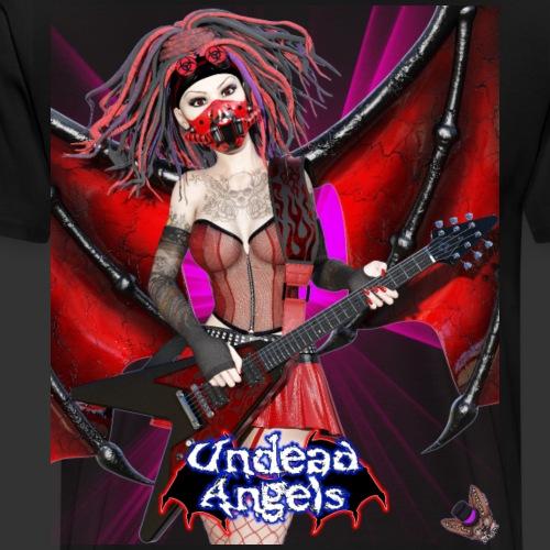 Undead Angels: Vampire Guitarist Crimson Spotlight - Men's Premium T-Shirt