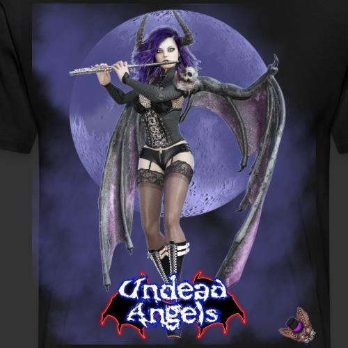 Undead Angels: Succubus Flute Player Full Moon - Men's Premium T-Shirt