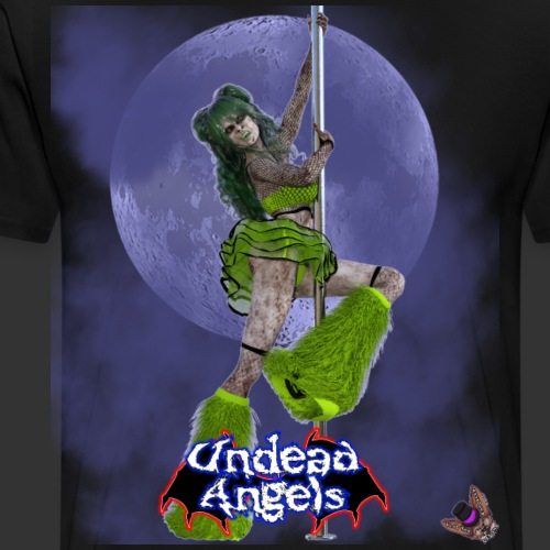 Undead Angels: Undead Dancer Emerald Full Moon - Men's Premium T-Shirt