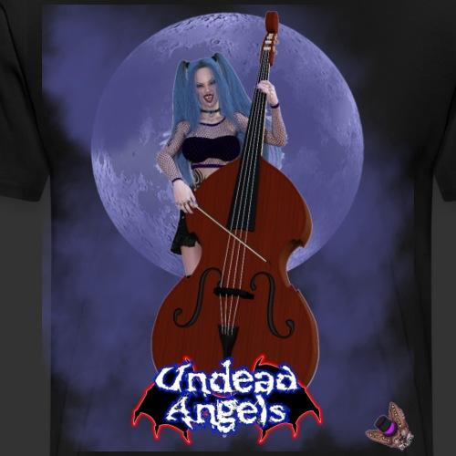 Undead Angels: Vampire Bassist Ashley Full Moon - Men's Premium T-Shirt