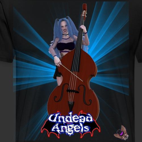 Undead Angels: Vampire Bassist Ashley Spotlight - Men's Premium T-Shirt