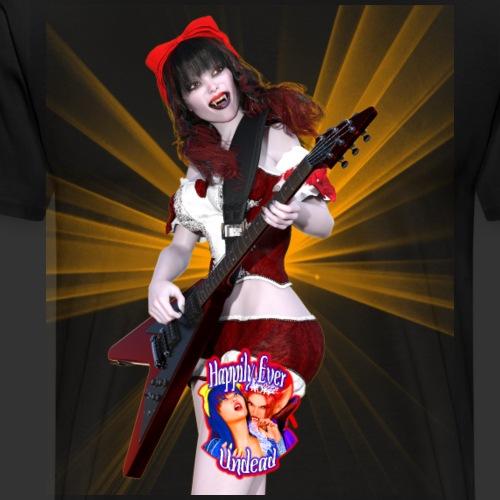 Happily Ever Undead: Crimson Snow Guitarist - Men's Premium T-Shirt