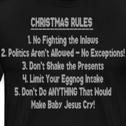 Christmas Rules Ugly Stitched Sweater - Men's Premium T-Shirt