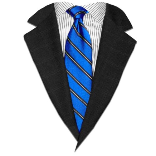 Blue Suit Up! Realistic Suit & Tie Casual Graphic - Men's Premium T-Shirt