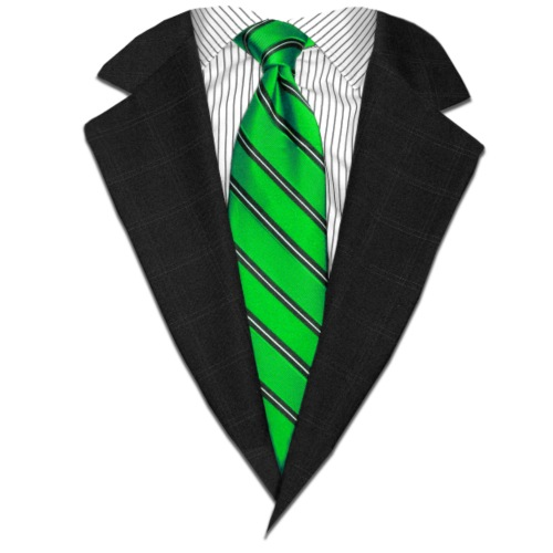 Green Suit Up! Realistic Suit & Tie Casual Graphic - Men's Premium T-Shirt