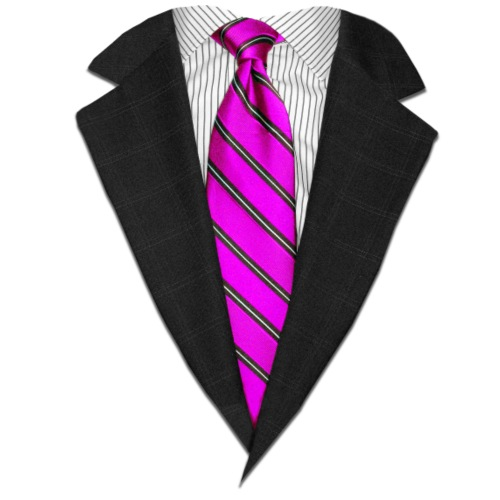 Pink Suit Up! Realistic Suit & Tie Casual Graphic - Men's Premium T-Shirt