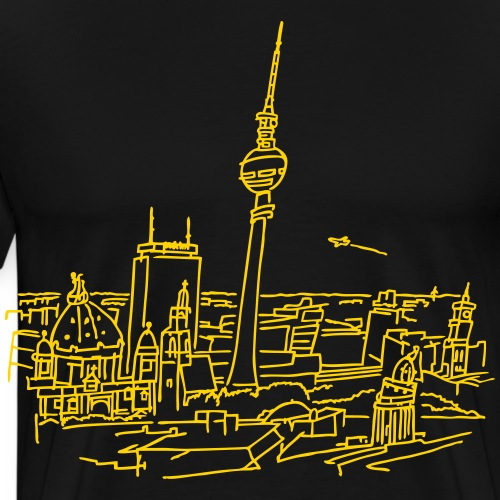 Panorama of Berlin - Men's Premium T-Shirt