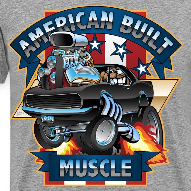 American Built Muscle - Classic Muscle Car Cartoon