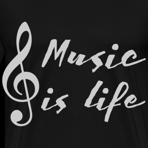 Music is Life | Treble Clef - Men's Premium T-Shirt