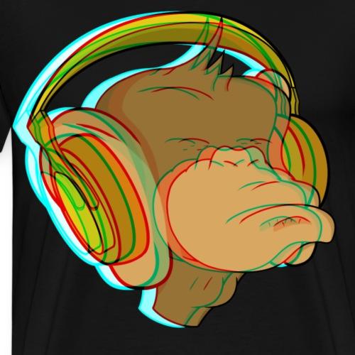 Earphones_3D - Men's Premium T-Shirt