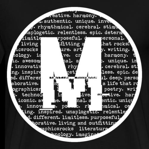 Melographics Letter - White - Men's Premium T-Shirt