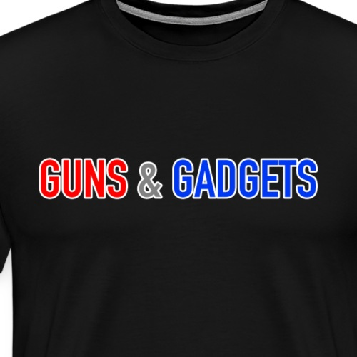 Guns & Gadgets Logo For Dark Products - Men's Premium T-Shirt