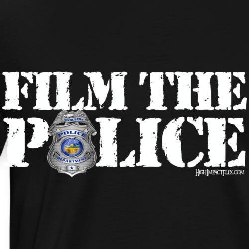 Film the Police White - Men's Premium T-Shirt