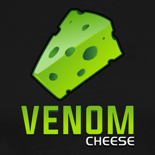 Venom Cheese Text Logo - Men's Premium T-Shirt
