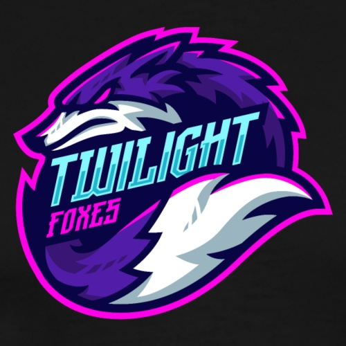 Twilight Foxes Text Logo - Men's Premium T-Shirt