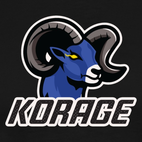 Korage Text Logo - Men's Premium T-Shirt