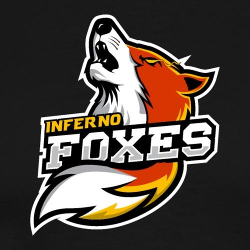 Inferno Foxes Text Logo - Men's Premium T-Shirt
