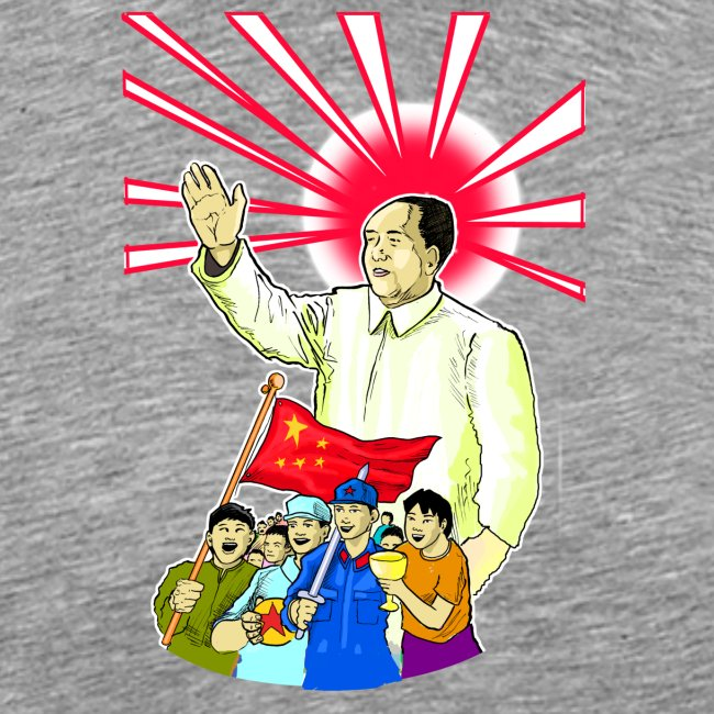 Mao Waves To His Supporters