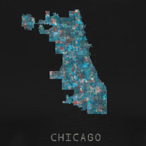 chicago blue red - Men's Premium T-Shirt