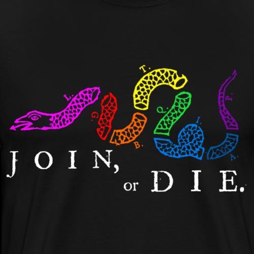 LGBTQIA Join or Die - Men's Premium T-Shirt