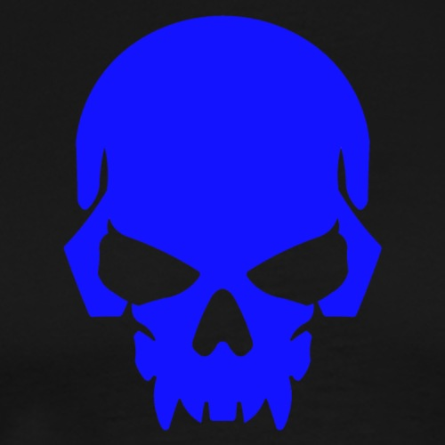 Royal Blue Skull - Men's Premium T-Shirt