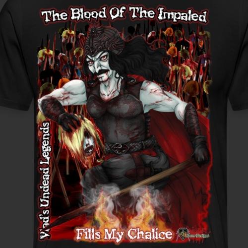 Vlad The Impaler CloseUp With Impaled - Men's Premium T-Shirt