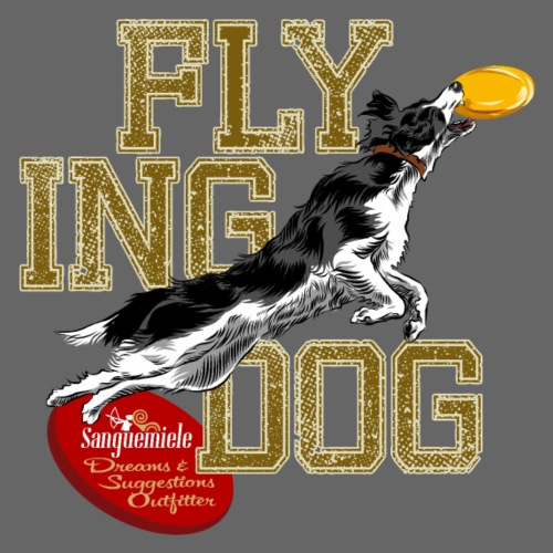 border collie disc dog - Men's Premium T-Shirt